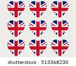 hearts with the uk flag. i love ...   Shutterstock .eps vector #513368230
