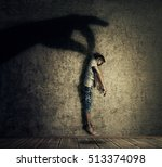 Human Hand Shadow Holding A...