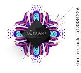 trendy geometric flat pattern ... | Shutterstock .eps vector #513384226