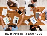 business meeting. busy people... | Shutterstock . vector #513384868