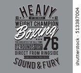 boxing sport typography  t... | Shutterstock .eps vector #513387004