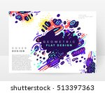 annual report brochure template ... | Shutterstock .eps vector #513397363