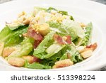 closed up of cesar salad ... | Shutterstock . vector #513398224