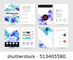 annual report brochure template ... | Shutterstock .eps vector #513405580