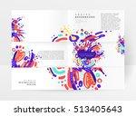 annual report brochure template ... | Shutterstock .eps vector #513405643