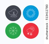 weather  sun and snow icons.... | Shutterstock .eps vector #513412780