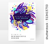 annual report brochure template ... | Shutterstock .eps vector #513415753