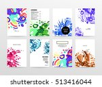 annual report brochure template ... | Shutterstock .eps vector #513416044