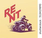 atvs emblem. rent    Shutterstock .eps vector #513419890