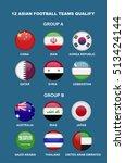 12 teams asian football nation... | Shutterstock .eps vector #513424144