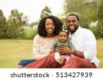 portrait of a happy family. | Shutterstock . vector #513427939