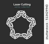 laser cutting template. vector... | Shutterstock .eps vector #513429940