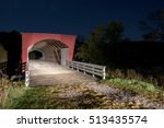 Covered Bridge At Night ...