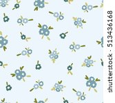 blue flowers. graphic print.... | Shutterstock .eps vector #513436168