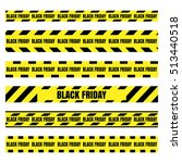 black friday sale set... | Shutterstock .eps vector #513440518