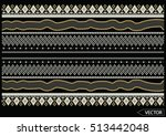 embroidery ethnic flowers neck... | Shutterstock .eps vector #513442048