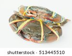 Two Crabs Isolated On White...