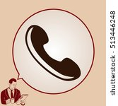 the handset  phone icon  ... | Shutterstock .eps vector #513446248