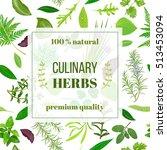 cooking herbs seamless pattern... | Shutterstock .eps vector #513453094