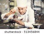 snow falling against... | Shutterstock . vector #513456844