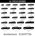 all types of car bodies. car... | Shutterstock .eps vector #513457756