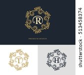 monogram design elements ... | Shutterstock .eps vector #513458374