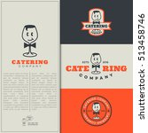 set of catering logo design... | Shutterstock .eps vector #513458746