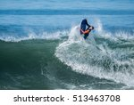 bodyboarder in action on the... | Shutterstock . vector #513463708