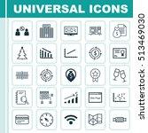 set of 25 universal editable... | Shutterstock .eps vector #513469030