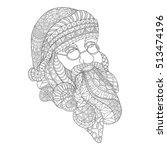 santa claus portrait coloring... | Shutterstock .eps vector #513474196