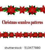 set of n seamless christmas... | Shutterstock .eps vector #513477880