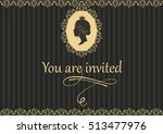 Vintage Invitation Card Design...