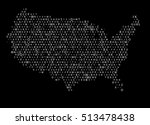 united states map of alphabets | Shutterstock .eps vector #513478438