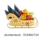 full sleigh of santa claus with ... | Shutterstock . vector #513481714