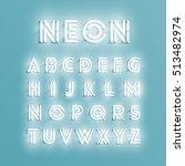 realistic neon character... | Shutterstock .eps vector #513482974