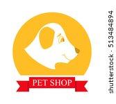 pet shop logo.vector an... | Shutterstock .eps vector #513484894