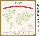 eco design concept with... | Shutterstock .eps vector #513485140