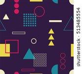 multicolored seamless pattern... | Shutterstock .eps vector #513485554