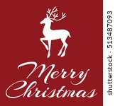 merry christmas greeting card   ... | Shutterstock .eps vector #513487093
