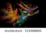 this mexican dragon guards the... | Shutterstock . vector #513488800