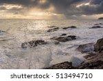 stormy seas at tarbat ness and... | Shutterstock . vector #513494710
