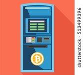 bitcoin atm machine in a flat... | Shutterstock .eps vector #513499396