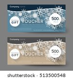 christmas gift voucher with... | Shutterstock .eps vector #513500548