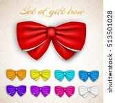 colorful gift bows set with... | Shutterstock .eps vector #513501028