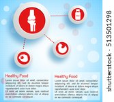 proper nutrition infographic... | Shutterstock .eps vector #513501298