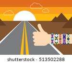 hand with hippy friendship... | Shutterstock .eps vector #513502288
