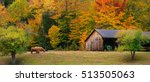 New England Farm In The Fall