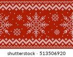 white vector knitted snowflakes ... | Shutterstock .eps vector #513506920