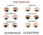 Set Of Eyes Shape. Different...