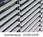 opened metallic window shutter... | Shutterstock . vector #513511549